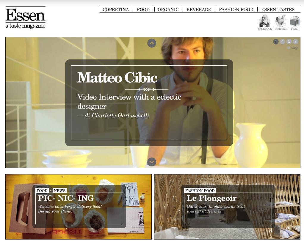 Essen : a Taste Magazine
