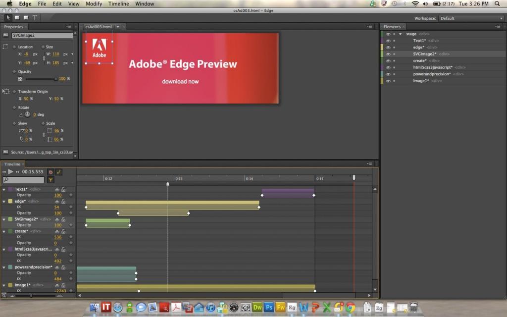 Adobe Edge 를 아시나요? : HTML5 애니메이션 개발 툴(번역)