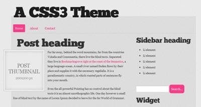 HTML5와 CSS3을 사용한 신선한 무료 템플릿 20선(번역)